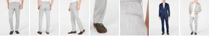 Alfani Men's Herringbone Linen Stretch Pants, Created for Macy's
