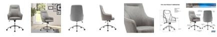 RTA Products Techni Mobili Height Adjustable Rolling Office Desk Chair