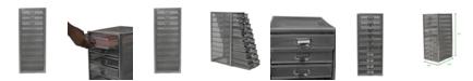 Mind Reader Mesh 10 Drawer Cabinet Metal Storage Drawers File Storage Cart