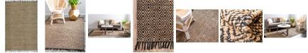 Bridgeport Home Braided Tones Brt3 Natural/Black 6' x 9' Area Rug