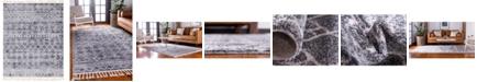 "Bridgeport Home Levia Lev1 Dark Gray 8' 2"" x 10' 2"" Area Rug"