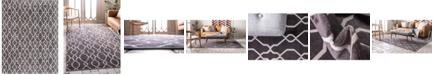 Bridgeport Home Pashio Pas8 Dark Gray 9' x 12' Area Rug