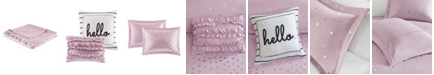 Intelligent Design Zoey Twin/Twin XL 4-Pc. Metallic Triangle Print Duvet Cover Set