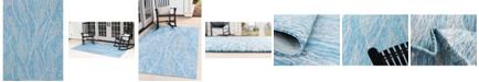 Bridgeport Home Pashio Pas7 Light Aqua 9' x 12' Area Rug