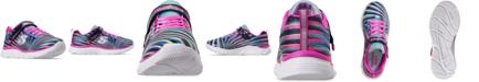 Skechers Little Girls' Wavy Lites - Sweet Sprinter Wide Width Running Sneakers from Finish Line