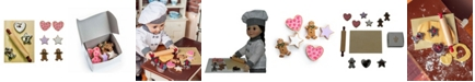 """The Queen's Treasures 18"""" Doll Cookie and Baking Tool Accessory Set, 12 Piece Kitchen Cookies, Cutters and Tools"""