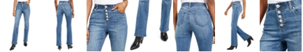 INC International Concepts I.N.C. High Rise Curvy-Fit Button-Fly Bootcut Jeans, Created For Macy's