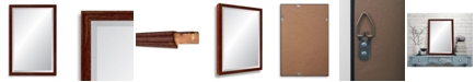Reveal Frame & Decor Reveal Deep Farmhouse Worn Barn Red Beveled Wall Mirror
