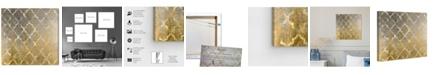 """Oliver Gal Arabesque Platinum Canvas Art, 16"""" x 16"""""""