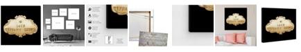 "Oliver Gal Tiffany Suite Luxe Noir Canvas Art, 43"" x 43"""