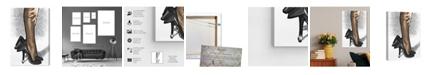"Oliver Gal Black Satin Canvas Art, 16"" x 24"""