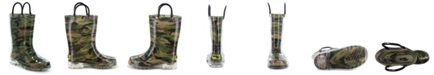 Western Chief Toddler, Little Boy's and Big Boy's Camo Lighted Rain Boots