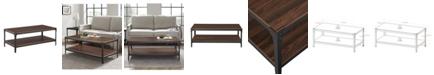 Walker Edison Urban Industrial Angle Iron Wood Coffee Table
