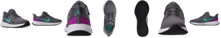 Nike Little Girls Revolution 5 Stay-Put Closure Running Sneakers from Finish Line
