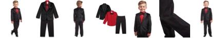 Calvin Klein Toddler Boys 4-Pc. Velvet Suit Set