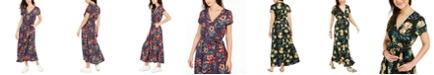 Roxy Juniors' District Day Floral-Print Maxi Dress
