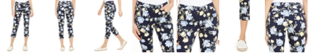 Charter Club Floral Print Tummy Control Capri Pants, Created For Macy's