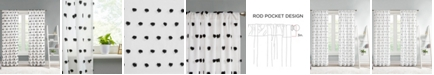 "Intelligent Design Sophie 50"" x 63"" Pom Pom Embellished Curtain Panel"