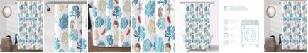 "Lush Decor Coastal Reef Feather 72"" x 72"" Shower Curtain"