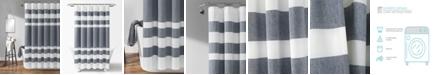 "Lush Decor Cape Cod Stripe Yarn Dyed Cotton 72"" x 72"" Shower Curtain"