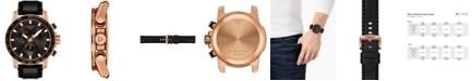 Tissot Men's Swiss Chronograph Supersport T-Sport Black Leather Strap Watch 46mm