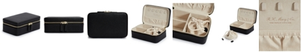 Wolf Designs Rectangular Zip Jewelry Case