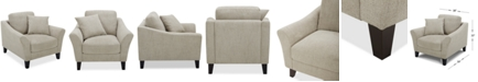 """Furniture Lylie 38"""" Fabric Chair, Created for Macy's"""