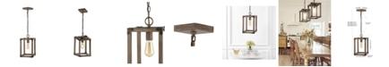 JONATHAN Y Magnolia Adjustable Rustic Farmhouse LED Pendant