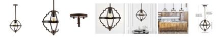 JONATHAN Y Ogee Adjustable Rustic Industrial LED Pendant