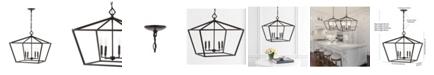 JONATHAN Y Gatsby 4-Light Adjustable Rustic Glam LED Pendant