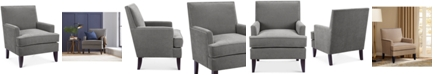 Madison Park Kendall Fabric Accent Chair, Quick Ship