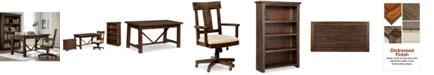 Furniture Ember Home Office Furniture, 4-Pc. Set (Desk, Lateral File Cabinet, Desk Chair & Bookcase)