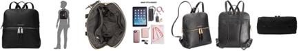 Michael Kors Rhea Slim Pebble Leather Backpack