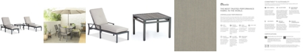 Furniture Marlough II Outdoor Aluminum 3-Pc. Chaise Set (2 Chaise Lounges and 1 End Table) with Sunbrella® Cushions, Created for Macy's