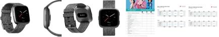 Fitbit Versa™ Charcoal Woven Band Touchscreen Smart Watch 39mm