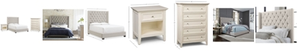 Furniture Monroe Upholstered Bedroom Furniture, 3-Pc. Set (Queen Bed, Nightstand, & Chest), Created for Macy's
