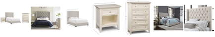 Furniture Monroe Upholstered Bedroom Furniture, 3-Pc. Set (California King Bed, Nightstand, & Chest), Created for Macy's