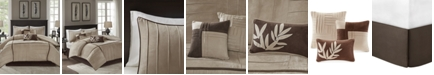 Madison Park Dune 7-Pc. Faux-Suede Full Comforter Set
