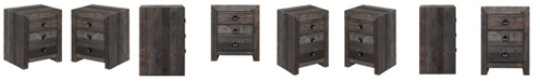 Moe's Home Collection Vintage Nightstand Gray