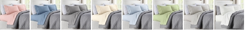 Cathay Home Inc. Quilted Hem Queen Microfiber Sheet Set
