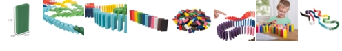 Trademark Global Colorful Wooden Dominoes Block Set - 200 Blocks By Hey Play