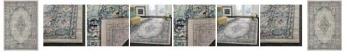 "Safavieh Madison Light Gray and Fuchsia 5'3"" x 7'6"" Area Rug"