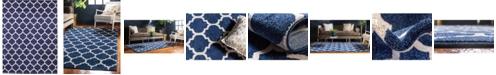 Bridgeport Home Arbor Arb1 Dark Blue 9' x 12' Area Rug