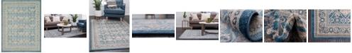 Bridgeport Home Bellmere Bel4 Light Blue 9' x 12' Area Rug