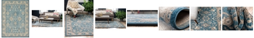 Bridgeport Home Bellmere Bel6 Light Blue 8' x 11' Area Rug