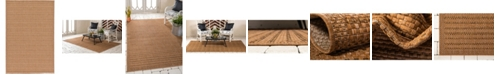 "Bridgeport Home Pashio Pas6 Light Brown 5' 3"" x 8' Area Rug"