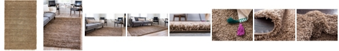 Bridgeport Home Exact Shag Exs1 Sandy Brown 5' x 8' Area Rug