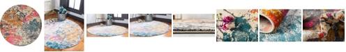 Bridgeport Home Aroa Aro6 Beige 8' x 8' Round Area Rug