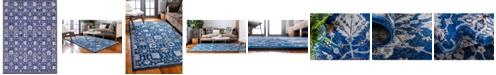 Bridgeport Home Wisdom Wis1 Blue 9' x 12' Area Rug