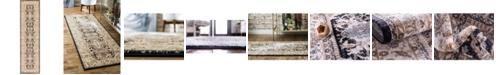 """Bridgeport Home Wisdom Wis2 Black 2' 7"""" x 10' Runner Area Rug"""